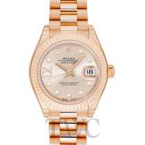 Rolex Lady-Datejust 28 Champagne 18k Yellow Gold Dia 28mm -...