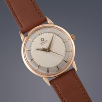 Omega 18ct rose gold automatic 'bumper' watch