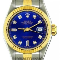 Rolex Datejust Ladies' 26mm Blue Dial Yellow Gold And...