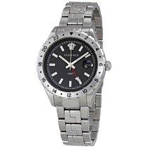 Versace Hellenyium GMT Black Dial Men's Watch