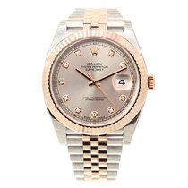 Rolex Datejust 18k Rose Gold And Steel Pink Automatic 126331GPK_J