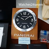 Panerai PAM 255 Wall Clock Teak Wood Quartz