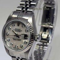 Rolex Ladies Datejust Steel & 18k Bezel MOP Diamond Dial...