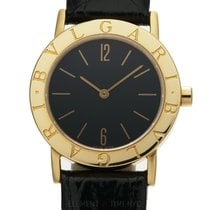 Bulgari 18k Yellow Gold Dress Watch 30mm Black Dial