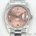 Rolex Date 115234 Stahl Weissgold 750 Diamanten Automatik