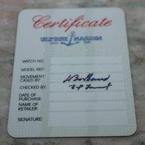 Ulysse Nardin vintage warranty card blank newoldstock