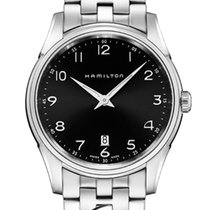 Hamilton Jazzmaster Thinline Quartz Black Dial 42mm