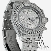 브라이틀링 (Breitling) Evolution A13356 Silver Dial 15ct Diamond Watch