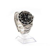Rolex SS Rolex Submariner with Black Dial Watch Ref. 16800