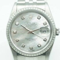 Rolex Datejust 36mm Stainless Steel Mother of Pearl Diamonds Dial