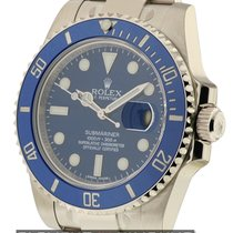 Rolex Submariner 18k White Gold Ceramic Blue Dial