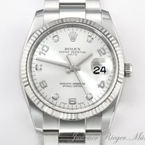 Rolex DATE 115234 STAHL WEISSGOLD 750 DIAMANT AUTOMATIK Date Just