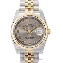 Rolex Datejust Silver Dial Yellow Gold/Steel Jubilee Bracelet...