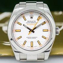 Rolex 116400 Milgauss SS White Dial (26491)