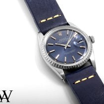 Rolex SS Datejust Blue Stick w/ Navy Blue Strap 1603 non-quickset