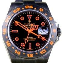 Rolex Explorer II 216570 Men's 42mm Custom PVD DLC Orange...