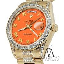 Rolex Presidential Day Date Orange Roman Diamond Watch 18 Kt...