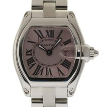 Cartier Roadster W62017V3 Small Stainless Steel Pink Box/Paper...