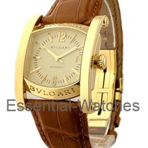 Bulgari AA 48 G Assioma Large Size in Yellow Gold - on Brown...