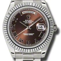 Rolex Watches: 218239 brrp Day-Date II President White Gold