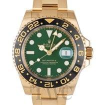 Rolex GMT-Master II Green/18k gold Ø40mm - 116718LN