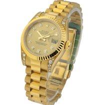 Rolex Unworn 179238 Ladys YG DateJust Diamond Lugs - President...