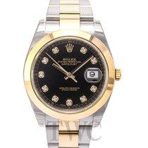 ロレックス (Rolex) Datejust 41 Black 18k yellow gold/Steel Dia 41mm...