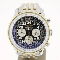 Breitling Navitimer Cosmonaute Steel/Gold BlackDial (B&P20...