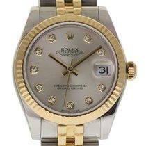 Rolex Datejust 178273 31mm Steel Gold Silver Diamond Box/Paper...