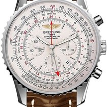 Breitling Navitimer GMT 48 Brown Leather Band Watch AB044121/G...
