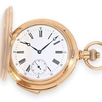 Pocket watch: rarity, extremely heavy golden hunting case with...