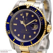 Rolex Submariner Date Ref-16613 18k Yellow Gold/Stainless...