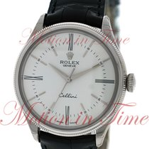 Rolex Cellini Time, White Lacquer Dial - White Gold on Strap