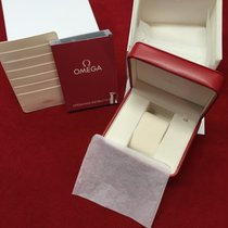 Omega Original Leder Box mit Beschreibung und Kartenhalter
