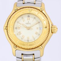 Ebel 18K Gold Discovery Diver Lady white cream Dial Steel
