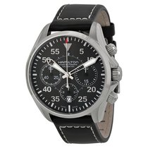 Hamilton Men's H64666735 Khaki Aviation Pilot Auto Chrono...