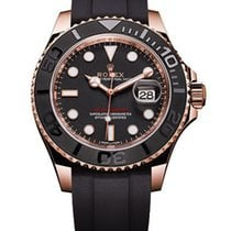 Rolex Yacht-Master 40mm Black Dial 18kt Everose Gold 116655