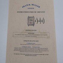 Franck Muller Geneve  8005 H SC Anleitung/ Beschreibung