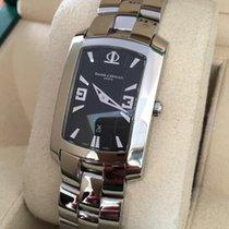 Baume & Mercier Hampton Steel  Black Dial 40 x 26 mm