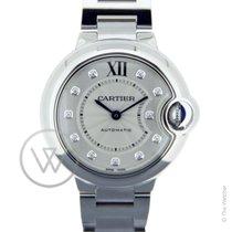 Cartier Ballon Bleu 33mm index diamonds New-Full Set