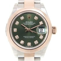 勞力士 (Rolex) Lady Datejust 18k Rose Gold And Steel Green...