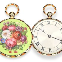 Bautte Pocket watch: exquisite gold / enamel-lepine for the...