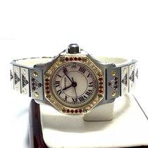 Cartier Santos Octagon 18k Gold & Ss Ladies Watch Diamonds...