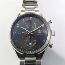 TAG Heuer Carrera Calibre 1887 43mm grey steel automatic...