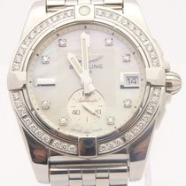 Breitling A37330 Galactic 36mm Stainless Automatic Watch MOP...
