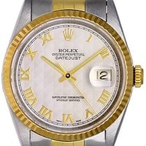 롤렉스 (Rolex) Datejust Men's Watch Ivory Pyramid Roman 16233
