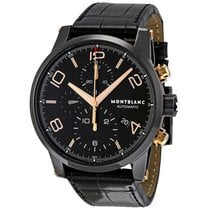 Montblanc Timewalker Black Steel Chronograph Men's Watch 105