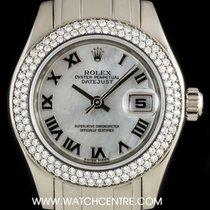 Rolex 18k W/Gold O/P MOP Dial Dia Bezel Pearlmaster Datejust...
