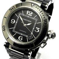 Cartier Pasha Seatimer Edelstahl Black Rubber Automatik Ref...