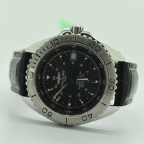 Breitling Colt /shark Black Stainless Steel Genuine Leather ...